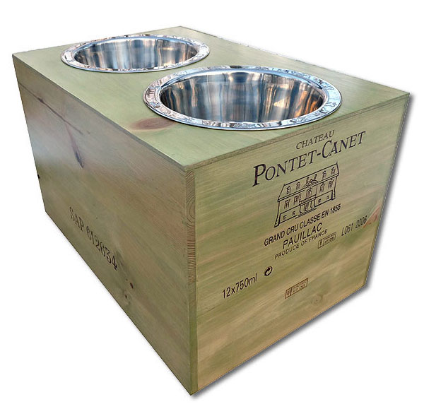 double bowl extra large dog feeders
